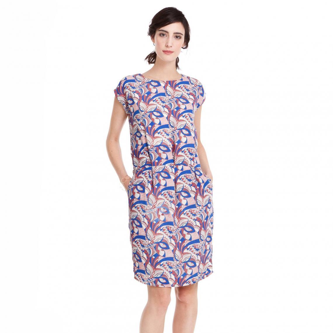 aff2b0229b5 Robe fluide mancherons imprimée femme - Multicolore 3 SUISSES Collection  Femme