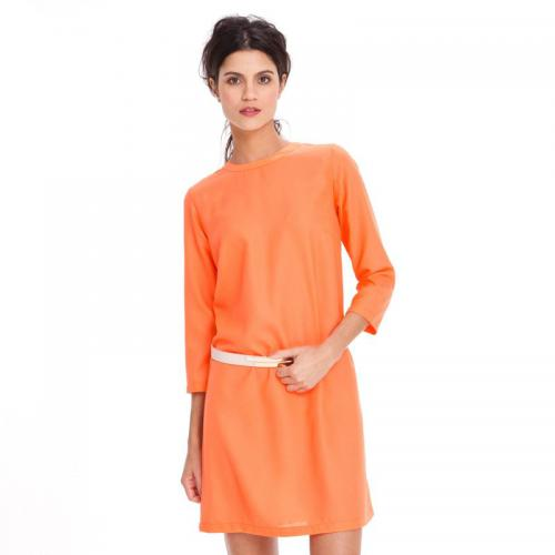 3 SUISSES Collection - Robe housse manches longues fluide ample femme - Orange - Robe
