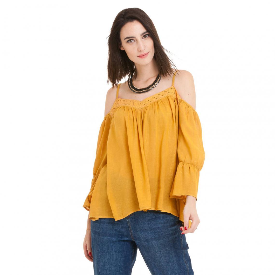 dessin de mode super populaire nouvelles variétés Blouse folk fines bretelles femme - Orange | 3 SUISSES