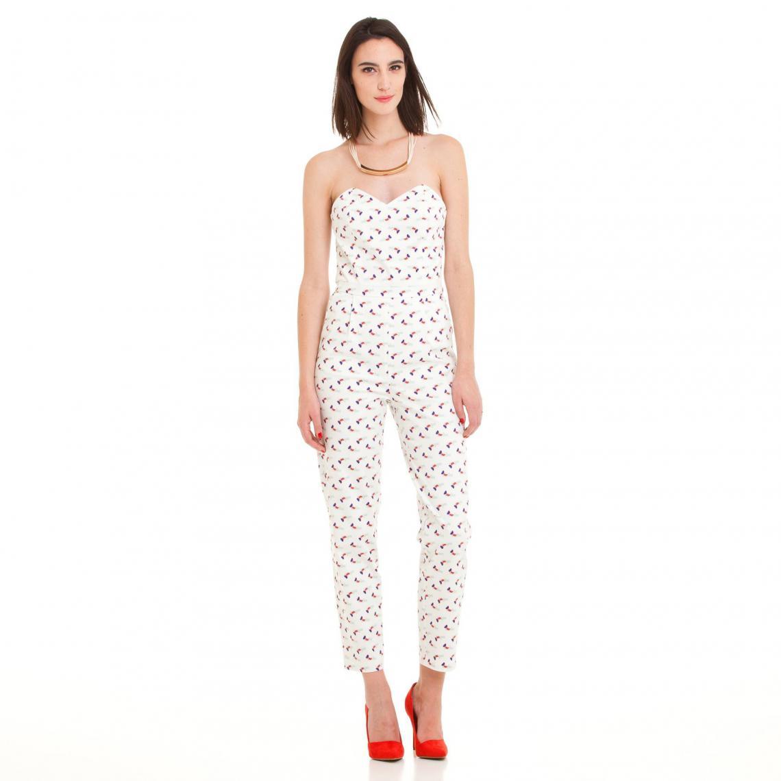 Combinaison pantalon-bustier imprimée - 3 SUISSES - Modalova
