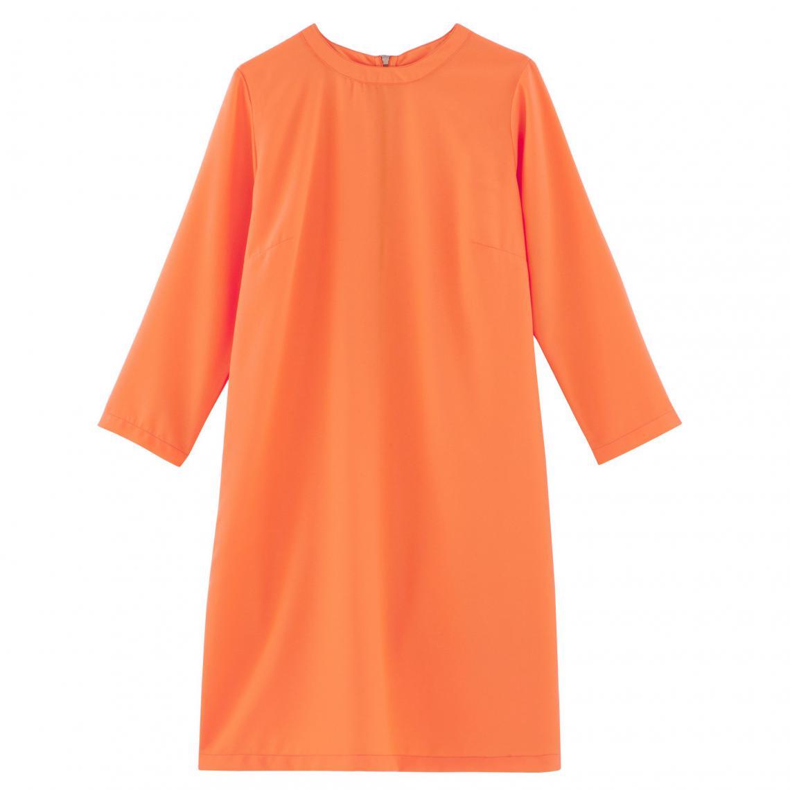 Robe Housse Ample Manches Longues Femme Suisses Orange3 Fluide BCodex