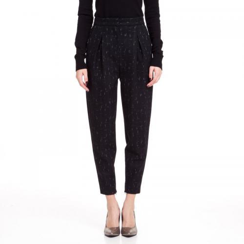 5bfbb2733a0 3 SUISSES Collection - Pantalon carrot chiné bas zippé femme 3 SUISSES  Collection - Noir -