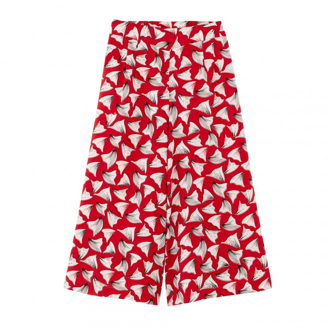4dcdc4dd5aa63 Jupe-culotte fluide imprimée extra large femme - Bicolore Rouge 3 Suisses  Collection