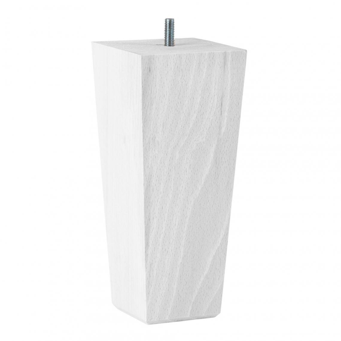 lot de 4 pieds de lit trap ze bois laqu blanc haut 20 cm. Black Bedroom Furniture Sets. Home Design Ideas