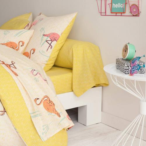 3S. x Collection - Drap-housse coton FLAMANTS GGASTON - multicolore - Linge de maison
