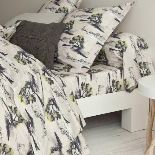 3 SUISSES Collection - Drap-housse coton imprimé Maele - Multicolore - Linge de maison