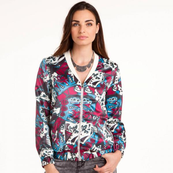 Blouson zippé esprit teddy femme 3 SUISSES Collection - Multicolore 3 SUISSES Collection Femme