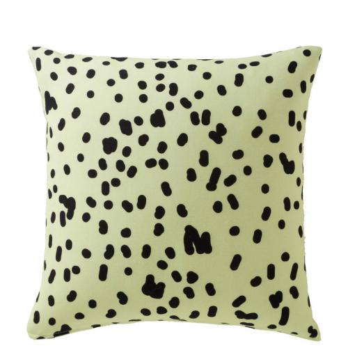 3 SUISSES Collection - Housse de coussin coton imprimé Pointy - Jaune - Promotions Linge de maison