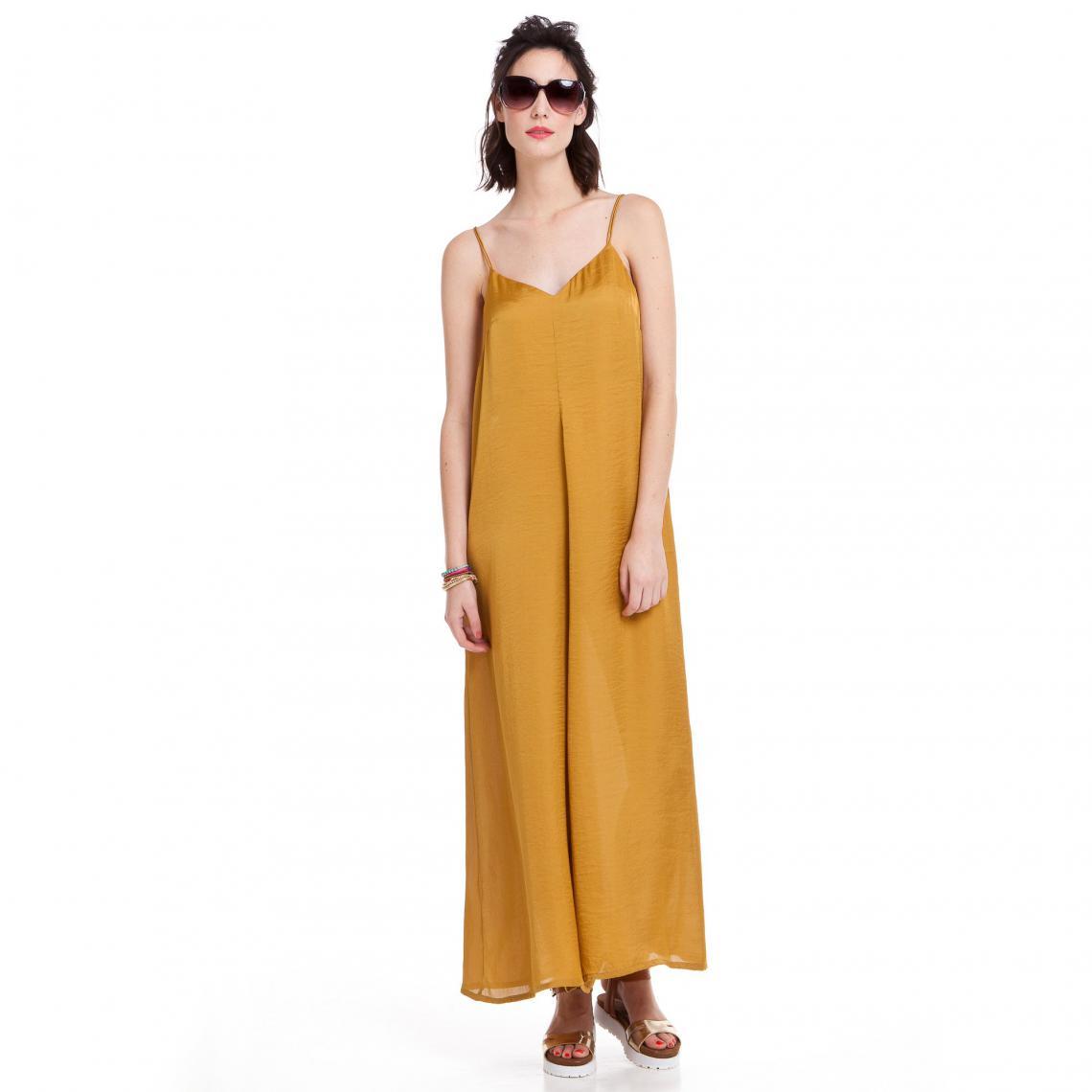 Combinaison-pantalon à fines bretelles satinée - 3 SUISSES - Modalova
