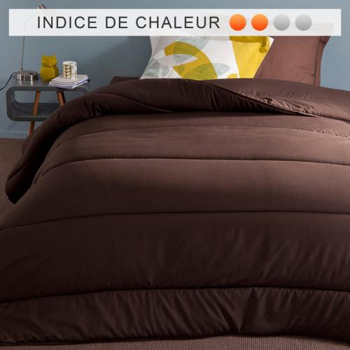 3 SUISSES Collection - Couette synthétique microfibre couleur 200 gm² - Marron - Couettes