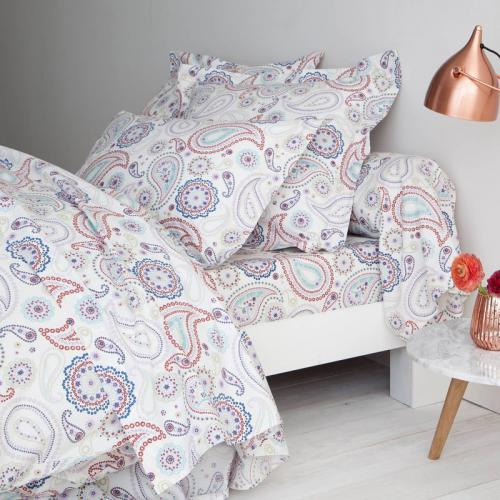 3 SUISSES Collection - Drap percale de coton imprimé Pachmira - Multicolore - Drap plat