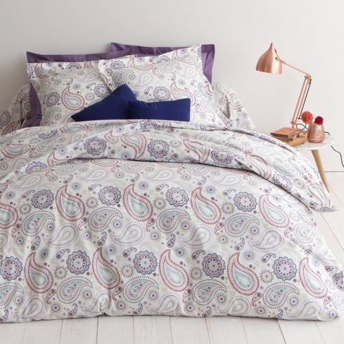 3S. x Collection - Housse de couette percale coton imprimé Pachmira - Multicolore - Linge de maison