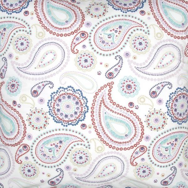 drap housse percale de coton imprim pachmira multicolore 3 suisses