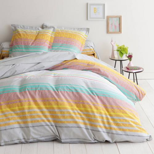 3S. x Collection - Housse de couette coton FLUKO - multicolore - Linge de lit