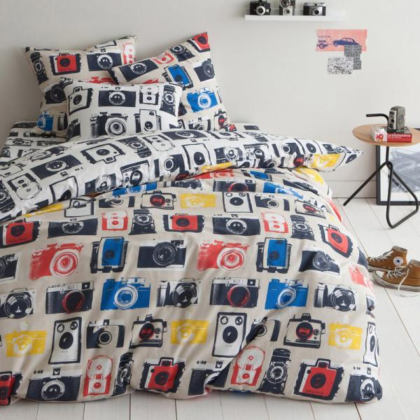 Housse de couette coton imprimé Clic - Multicolore 3 SUISSES Collection Linge de maison