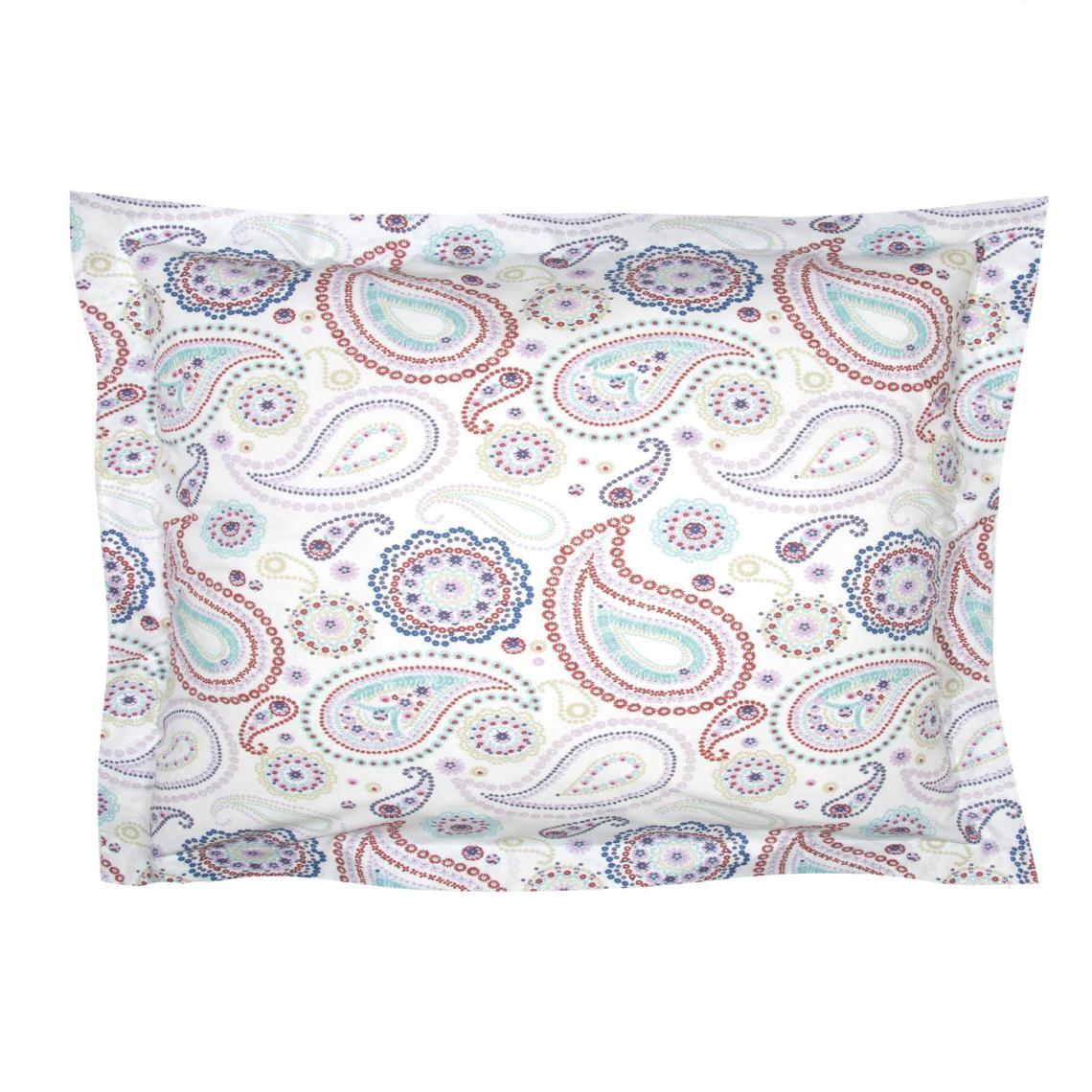 Taie d'oreiller percale coton PACHMIRA multicolore 10 Avis Plus de détails