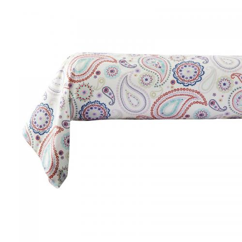Taie d'oreiller ou de traversin percale de coton imprimé Pachmira - Multicolore 3 SUISSES Collection