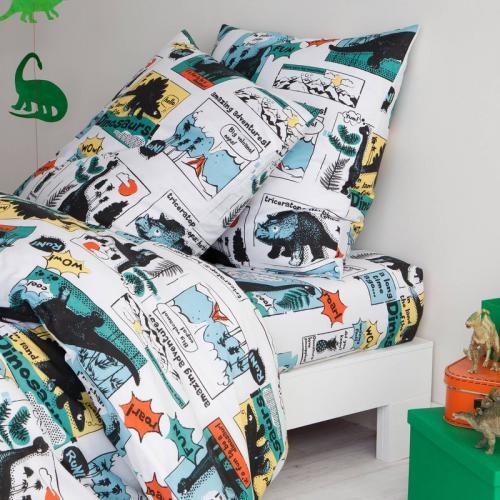 3 SUISSES Collection - Drap housse coton imprimé Dinoso - Multicolore - Linge de lit enfant