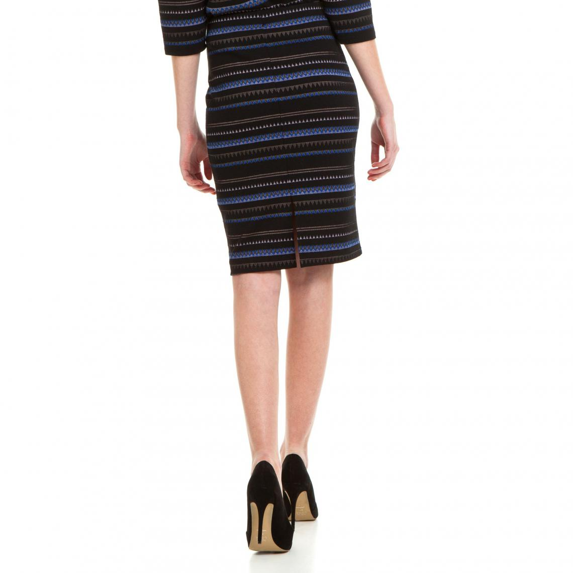 maille Jupe crayon extensible SUISSES femme imprimée Multicolore3 Yfyvgb67