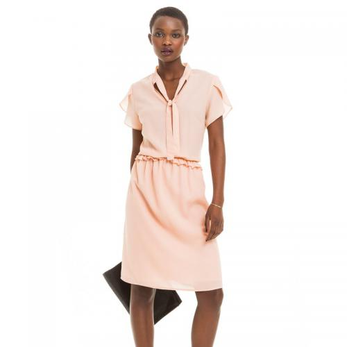 3 SUISSES Collection - Robe fluide manches courtes femme - Rose - Robe Rose