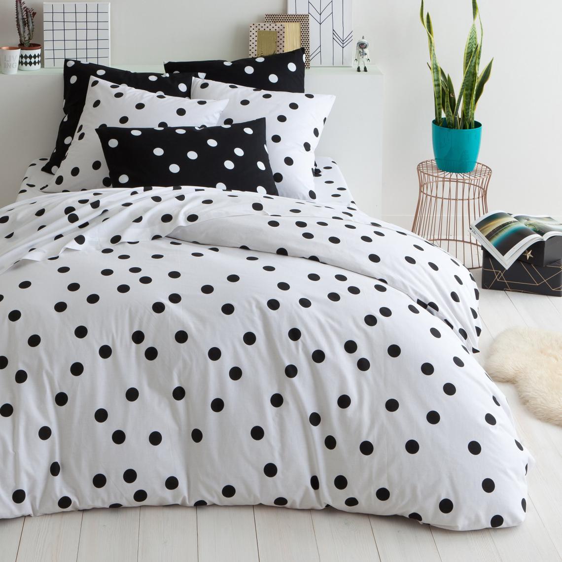 housse de couette coton imprim nocturnes noir 3 suisses. Black Bedroom Furniture Sets. Home Design Ideas