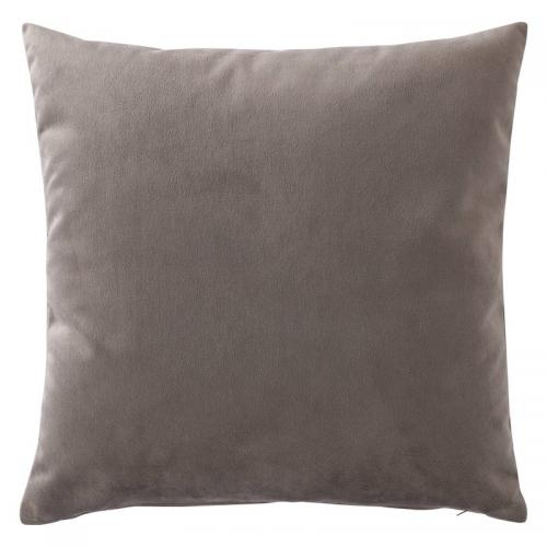 3 SUISSES Collection - Housse de coussin velours uni - Gris - Promotions