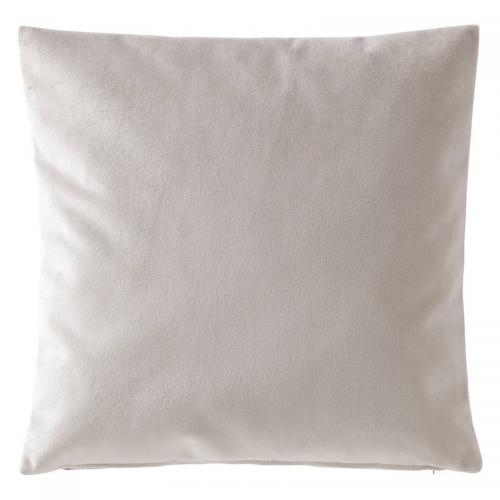 3 SUISSES Collection - Housse de coussin velours uni - Gris - Linge de maison