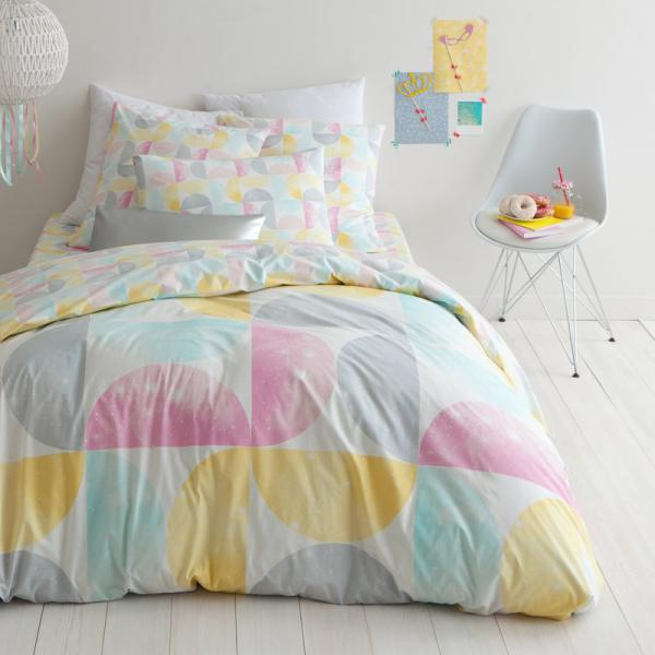 Housse de couette coton imprimé Monopole - Multicolore 3S. x Collection Linge de maison