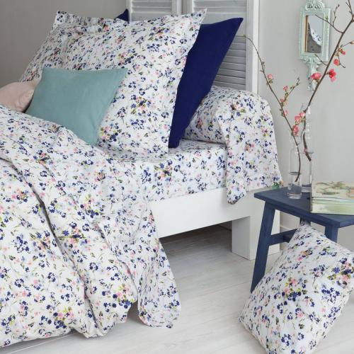 3 SUISSES Collection - Drap-housse coton imprimé Danyela - Multicolore - Linge de maison