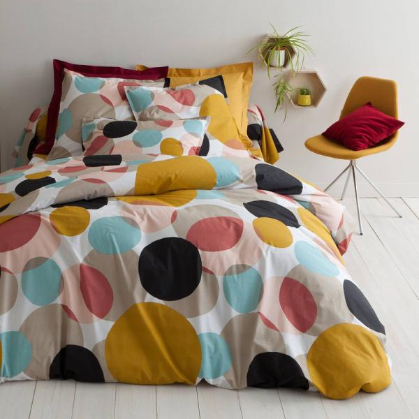 Housse de couette coton imprimé Markus - Multicolore 3S. x Collection Linge de maison