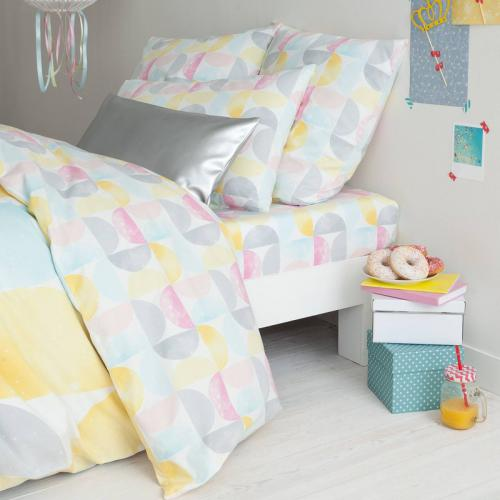 3S. x Collection - Drap-housse coton imprimé Monopole - Multicolore - Linge de lit