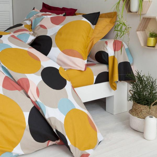 Drap-housse coton imprimé Markus - Multicolore 3 SUISSES Collection Linge de maison