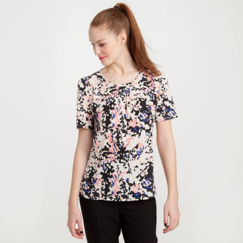 3 SUISSES Collection - Blouse manches courtes femme 3 SUISSES Collection - Multicolore - Promos Femme