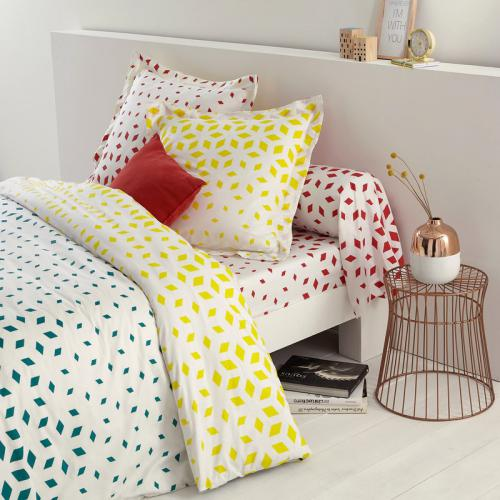 3S. x Collection - Drap-housse coton FLORRA - rouge - Linge de maison