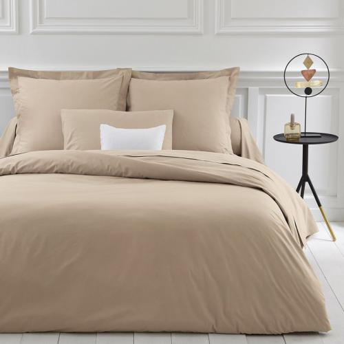 3 SUISSES Collection - Housse de couette coton unie PERCALE - Beige - Linge de maison