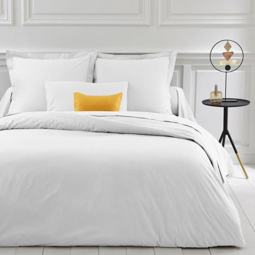 3 SUISSES Collection - Housse de couette coton unie PERCALE - Blanc - Linge de maison