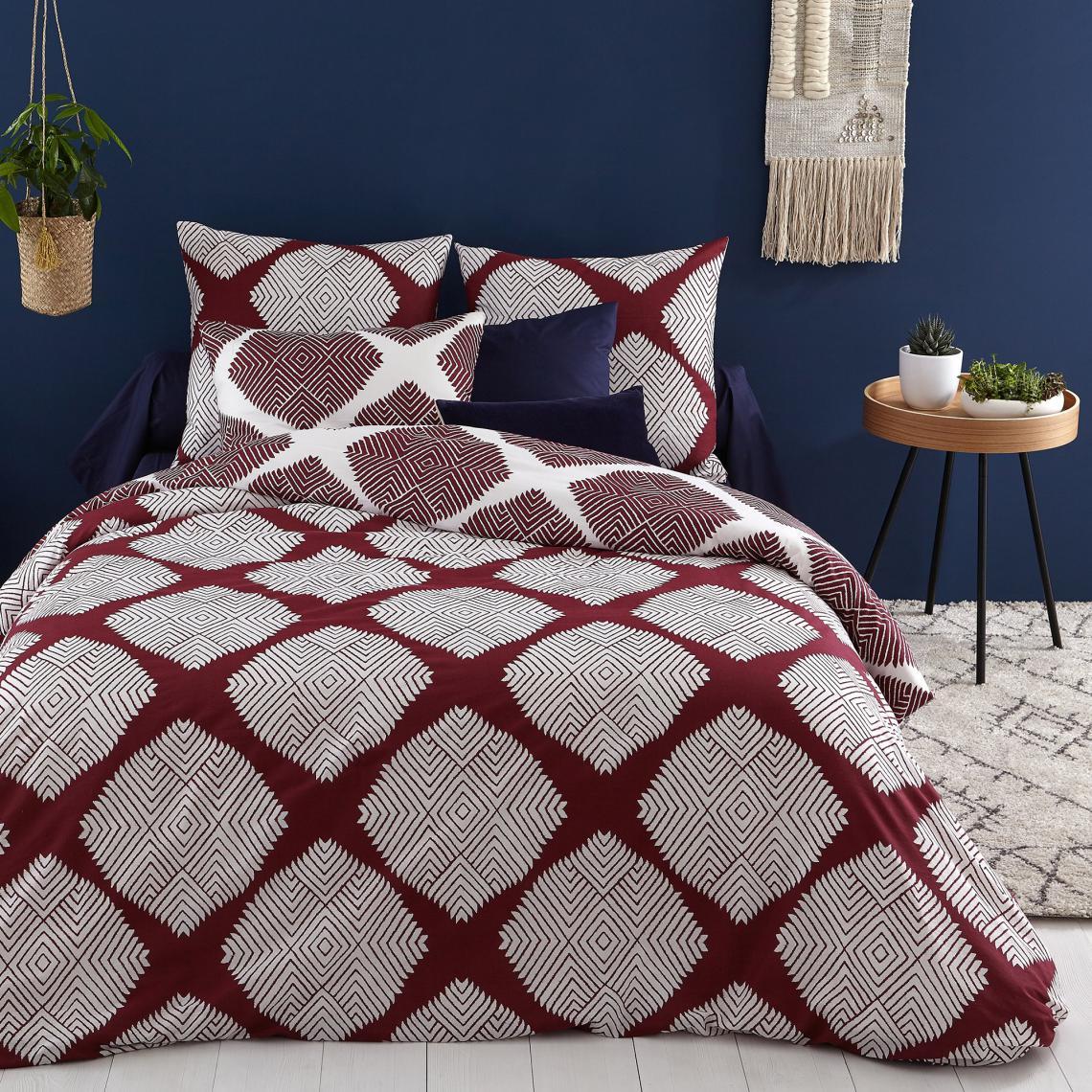 Linge De Maison Bordeaux parure de lit coton shawl - bordeaux 11 avis plus de détails