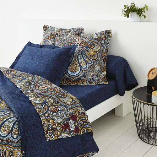 3 SUISSES Collection - Drap plat 1 ou 2 personnes percale imprimé Arya - Multicolore - Linge de maison
