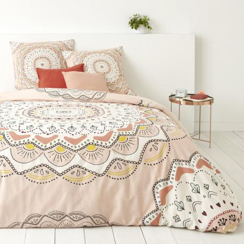 3S. x Collection - Housse de couette coton APATCHI - rose - Linge de maison