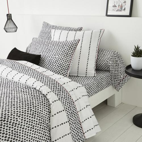 3S. x Collection - Drap plat coton ARNO - anthracite - Drap plat