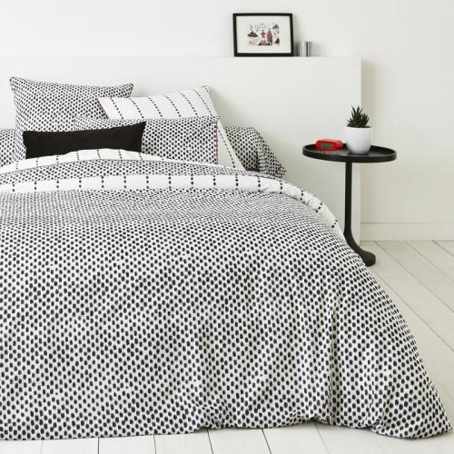 3S. x Collection - Housse de couette coton ARNO - anthracite - Linge de maison