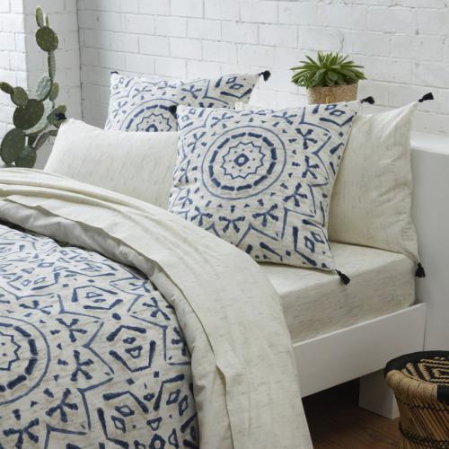 drap plat 1 ou 2 personnes coton imprim antik imprim gris 3suisses. Black Bedroom Furniture Sets. Home Design Ideas