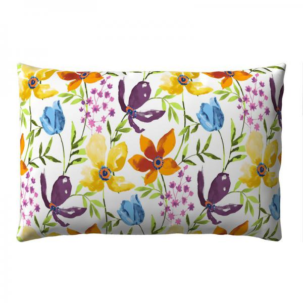 Taie d'oreiller carrée ou rectangulaire percale imprimé Agathe - Multicolore 3 SUISSES Collection