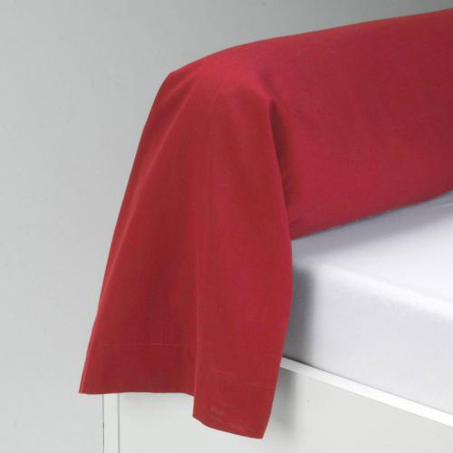 3 SUISSES Collection - Taie de traversin en pur coton TRIO - Rouge - Linge de maison