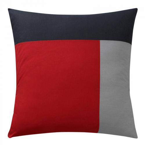 3 SUISSES Collection - Taie d'oreiller carrée ou rectangulaire en pur coton TRIO - Rouge - Linge de maison