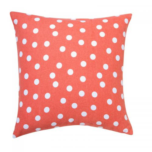 3 SUISSES Collection - Housse de coussin pois - Orange - Linge de maison