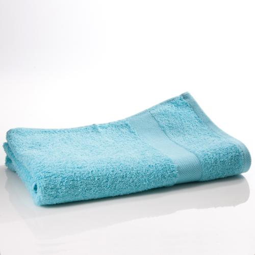 3 SUISSES Collection - Drap de bain en éponge pur coton - Bleu - Serviettes de toilette