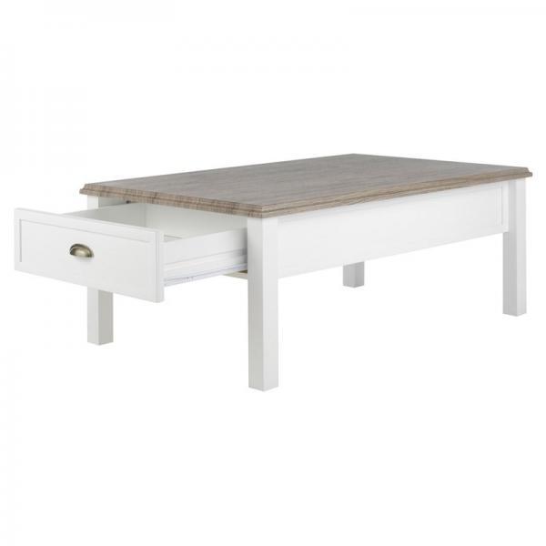 table basse rectangulaire 1 tiroir blanc 3 suisses. Black Bedroom Furniture Sets. Home Design Ideas