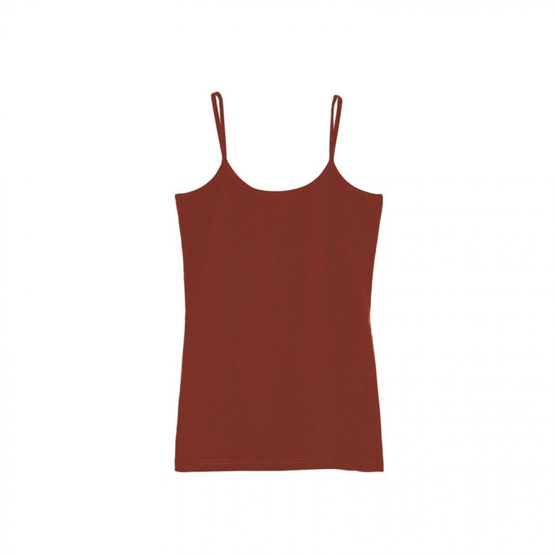 831a09f52134b Tee-shirt uni à bretelles maille élastique femme - Rouge | 3 SUISSES