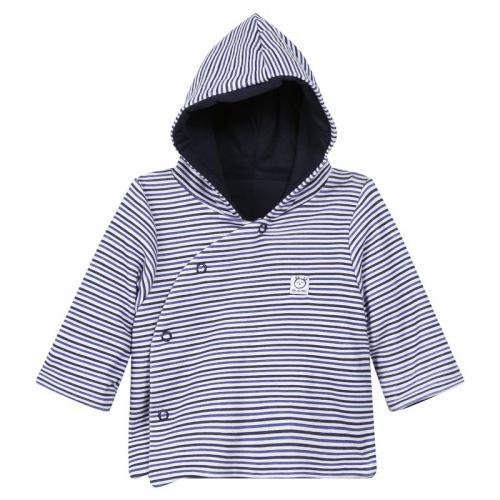 Absorba - Manteau coton rayé à capuche bébé Absorba - Bleu Marine - Absorba b9a4711ac64